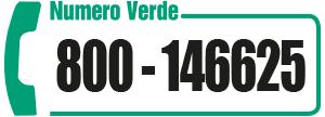 chiama per informazioni il numero verde 800146625