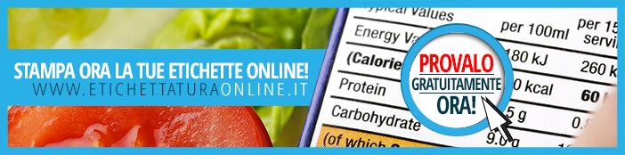 vai alla creazione e alla stampa della tua tabella nutrizionale