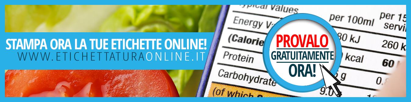crea e stampa la tua etichetta alimentare