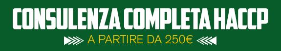 consulenza completa haccp a partire da 250 euro