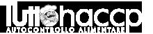 logo tuttohaccp.com in bianco e nero per il footer