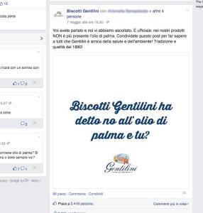 Biscotti Gentilini dice stop all'olio di palma
